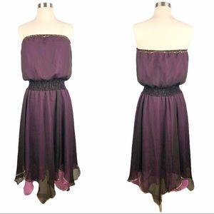 ABS Allen Schwartz Chiffon Layered Dress 10